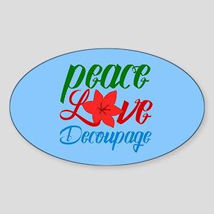 Cute Decoupage Sticker (Oval)