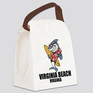 Virginia Beach, Virginia Canvas Lunch Bag