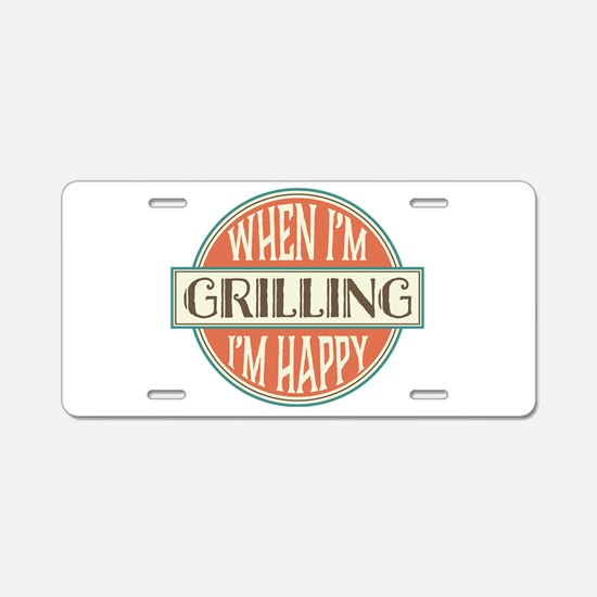 happy griller Aluminum License Plate
