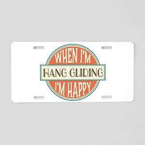 happy hang glider Aluminum License Plate