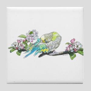 Parakeet Tile Coaster