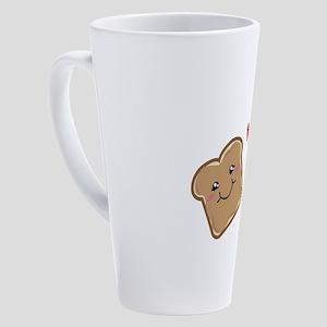 Peanut Butter and Jelly Best Frien 17 oz Latte Mug