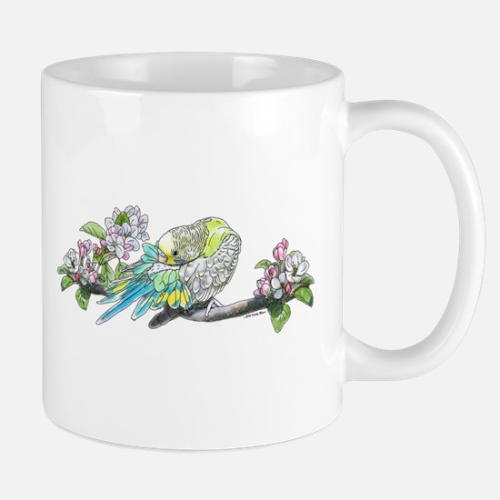 Parakeet Grooming Feathers Mug Mugs