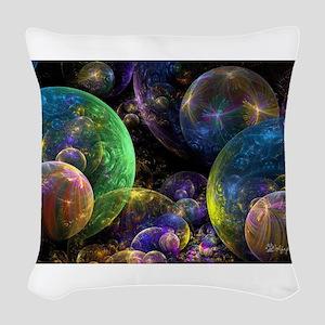 Bubbles Upon Bubbles Woven Throw Pillow