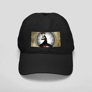 Steampunk, funny skeleton Baseball Hat