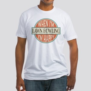 happy lawn bowler Fitted T-Shirt