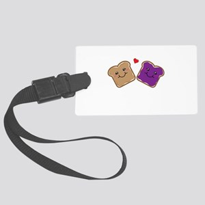 Peanut Butter and Jelly Best Fri Large Luggage Tag