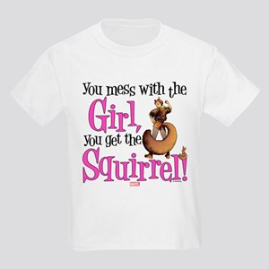 Squirrel Girl Mess with the Gir Kids Light T-Shirt