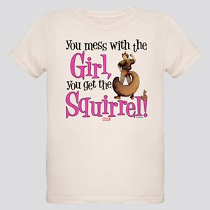Squirrel Girl Mess with the G Organic Kids T-Shirt