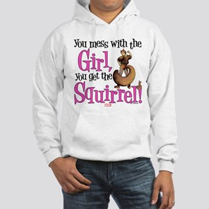 Squirrel Girl Mess with the Girl Hooded Sweatshirt