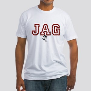 jag stars and stripes 4 Fitted T-Shirt