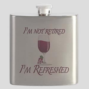 I'm Not Retired Wine Flask