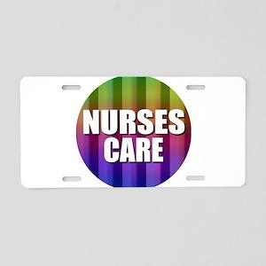 Nurses Care Aluminum License Plate