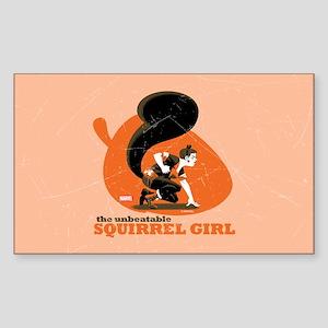 Squirrel Girl Orange Sticker (Rectangle)
