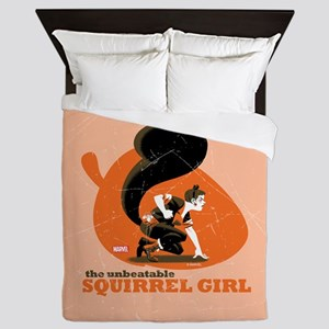 Squirrel Girl Orange Queen Duvet