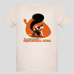 Squirrel Girl Orange Organic Kids T-Shirt