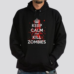 Keep Calm And Kill Zombies Hoodie (dark)