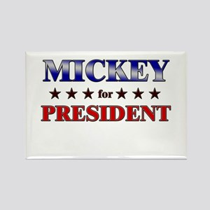 MICKEY for president Rectangle Magnet