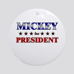 MICKEY for president Ornament (Round)