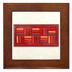 Jackie-Red Framed Tile
