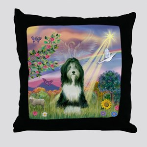 Cloud Angel & Beardie #9 Throw Pillow
