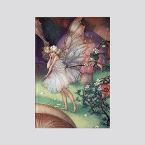 Fairy & Mrs. Bramble - Florence M Rectangle Magnet
