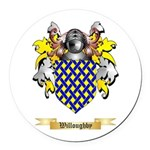 Willoughby Round Car Magnet