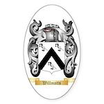 Willmotts Sticker (Oval 10 pk)
