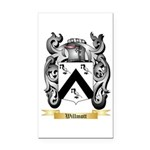 Willmott Rectangle Car Magnet