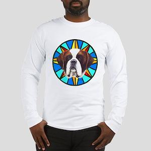 St. Bernard Dog Christmas Long Sleeve T-Shirt