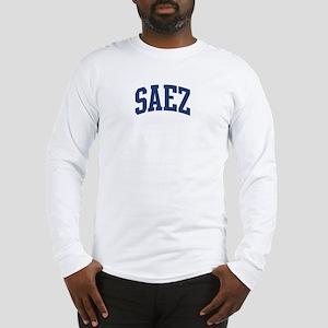 SAEZ design (blue) Long Sleeve T-Shirt