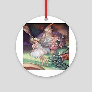 Fairy & Mrs. Bramble - Florence Mar Round Ornament