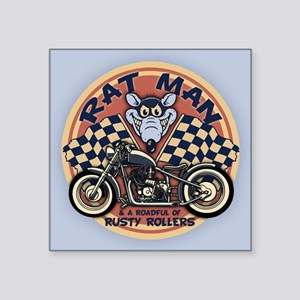 "Rat Man Roadful Square Sticker 3"" x 3"""