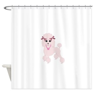 Pink Poodle Shower Curtains