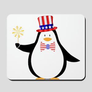Patriotic Penguin Mousepad
