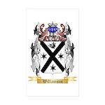 Williamson Scottish Sticker (Rectangle 50 pk)