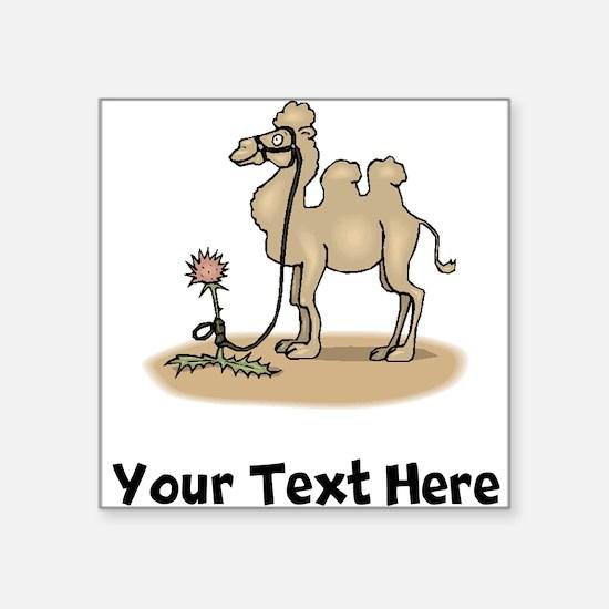 Camel Tied To Flower (Custom) Sticker
