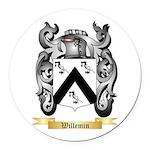 Willemin Round Car Magnet