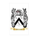 Willemin Sticker (Rectangle 50 pk)