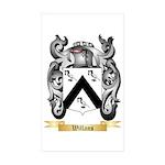 Willans Sticker (Rectangle 50 pk)