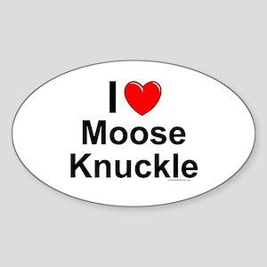 Moose Knuckle Sticker (Oval)