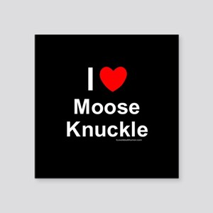 "Moose Knuckle Square Sticker 3"" x 3"""
