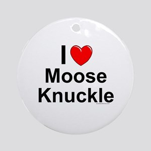Moose Knuckle Round Ornament