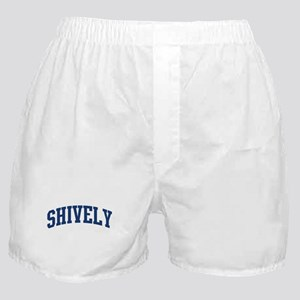 SHIVELY design (blue) Boxer Shorts