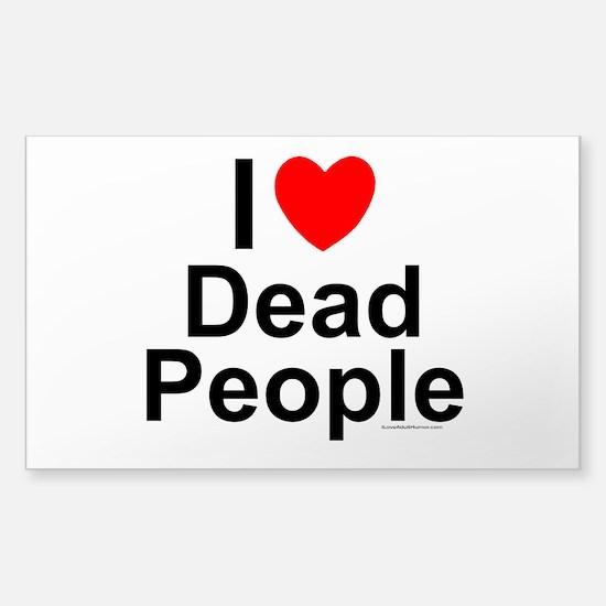 Dead People Sticker (Rectangle)