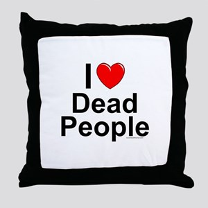 Dead People Throw Pillow