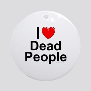Dead People Round Ornament