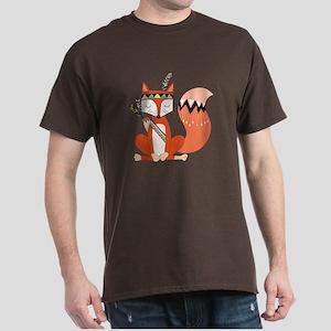 Tribal Red Fox Dark T-Shirt