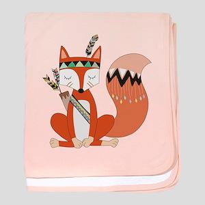 Tribal Red Fox baby blanket