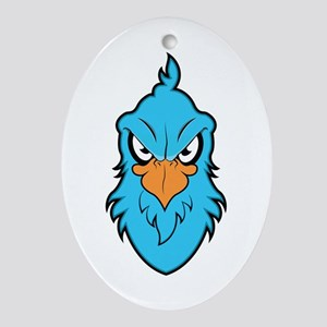 Angry Eagle Oval Ornament